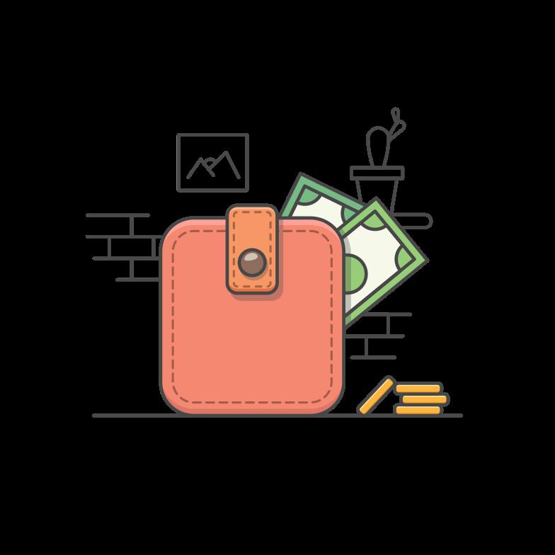 Wallet Clipart illustration in PNG, SVG