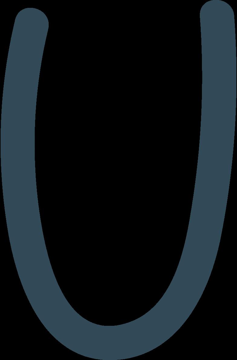 u dark blue Clipart illustration in PNG, SVG