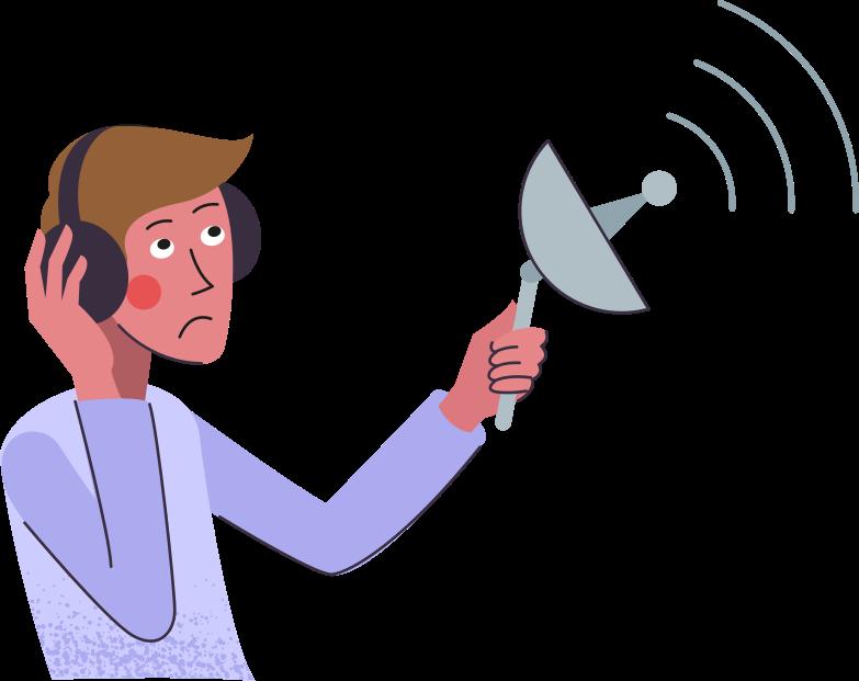 man-with-scaner Clipart illustration in PNG, SVG