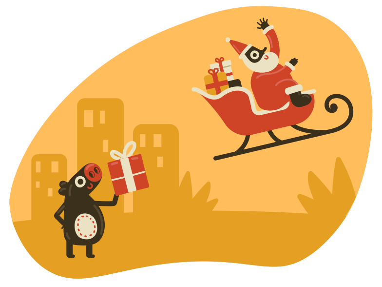 Christmas gift Clipart illustration in PNG, SVG