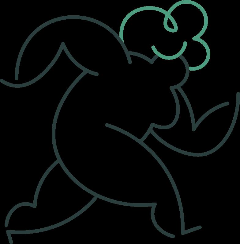 grandmother running Clipart illustration in PNG, SVG