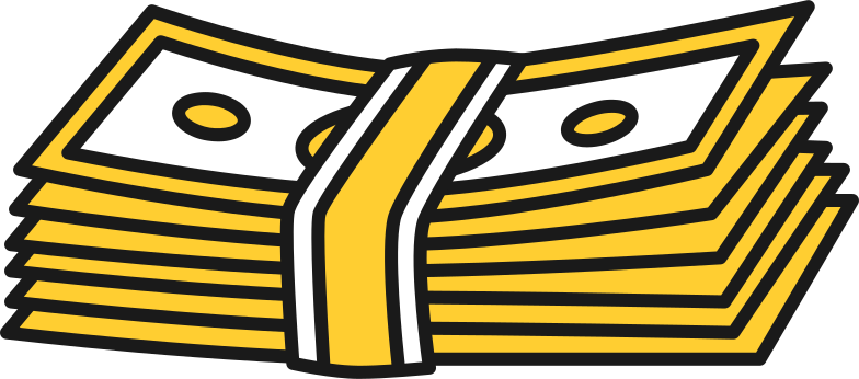 banknotes Clipart illustration in PNG, SVG