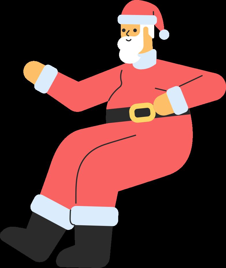 Vektorgrafik im  Stil Weihnachtsmann sitzend als PNG und SVG | Icons8 Grafiken