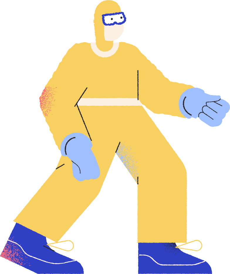 man protective suit Clipart illustration in PNG, SVG