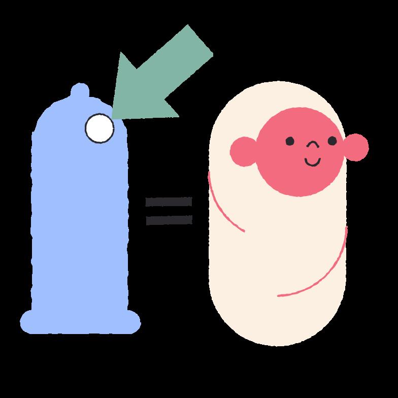 Condom broke Clipart illustration in PNG, SVG