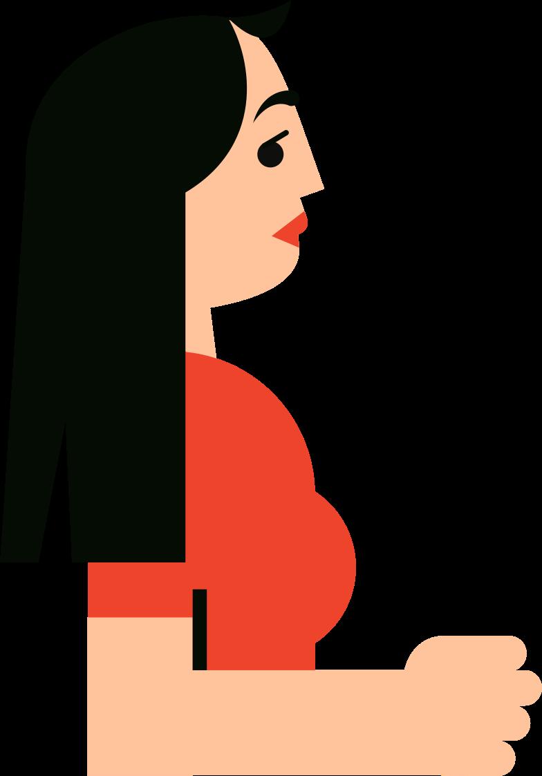 women Clipart illustration in PNG, SVG