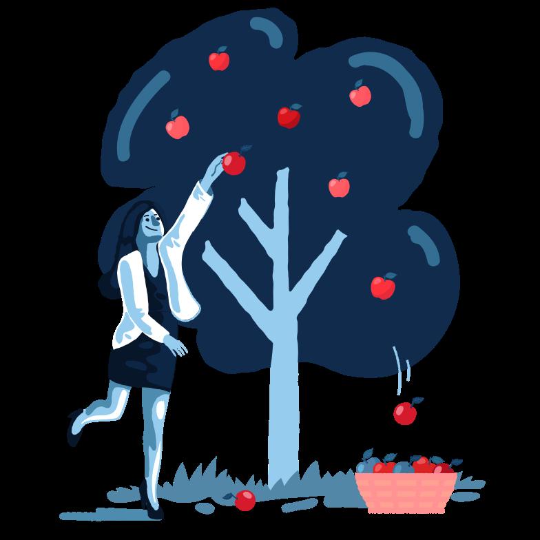 Pick apples Clipart illustration in PNG, SVG