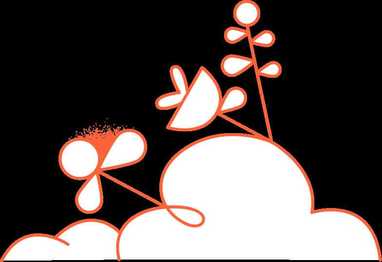 fatal error 2  plants composition Clipart illustration in PNG, SVG