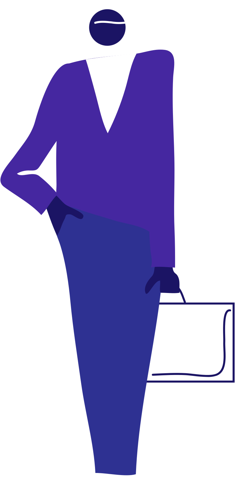 y office man with case Clipart illustration in PNG, SVG