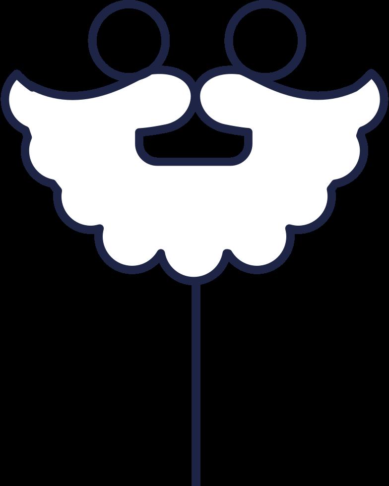 santa mask Clipart illustration in PNG, SVG