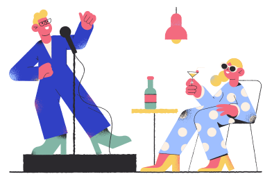 style Stand-up performance images in PNG and SVG | Icons8 Illustrations