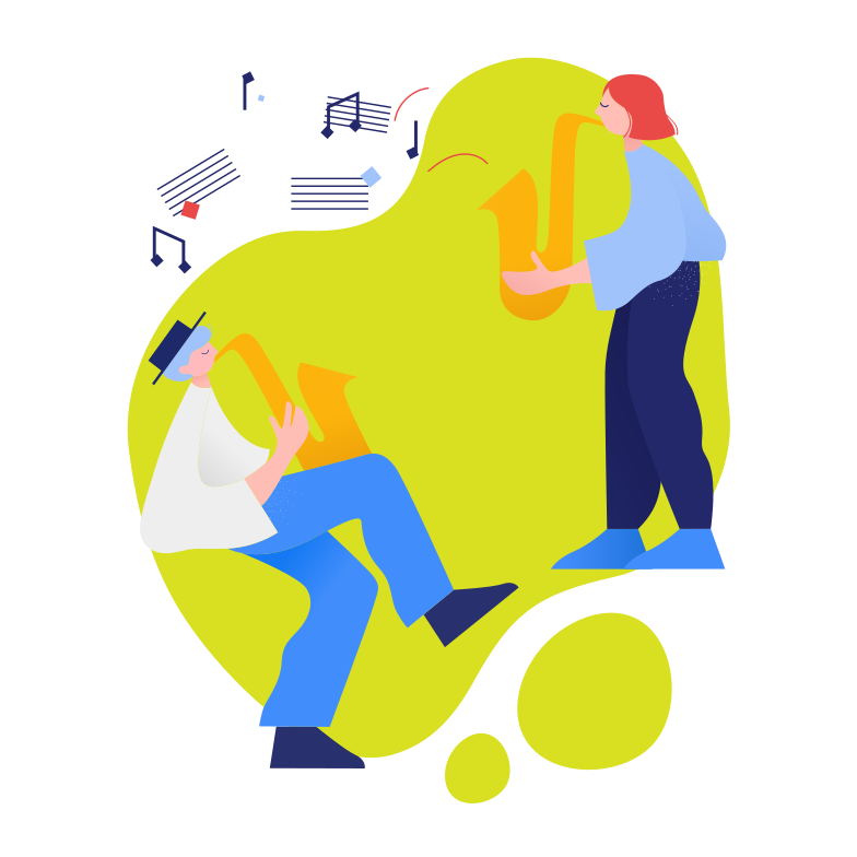 Musicians Clipart illustration in PNG, SVG