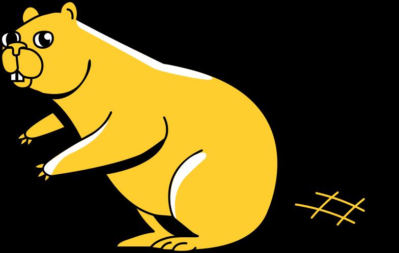 beaver Clipart illustration in PNG, SVG