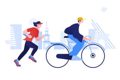 style Bicycle day and national running day images in PNG and SVG | Icons8 Illustrations