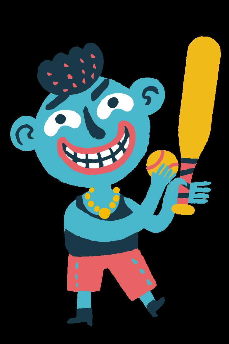 Baseball boy Clipart illustration in PNG, SVG