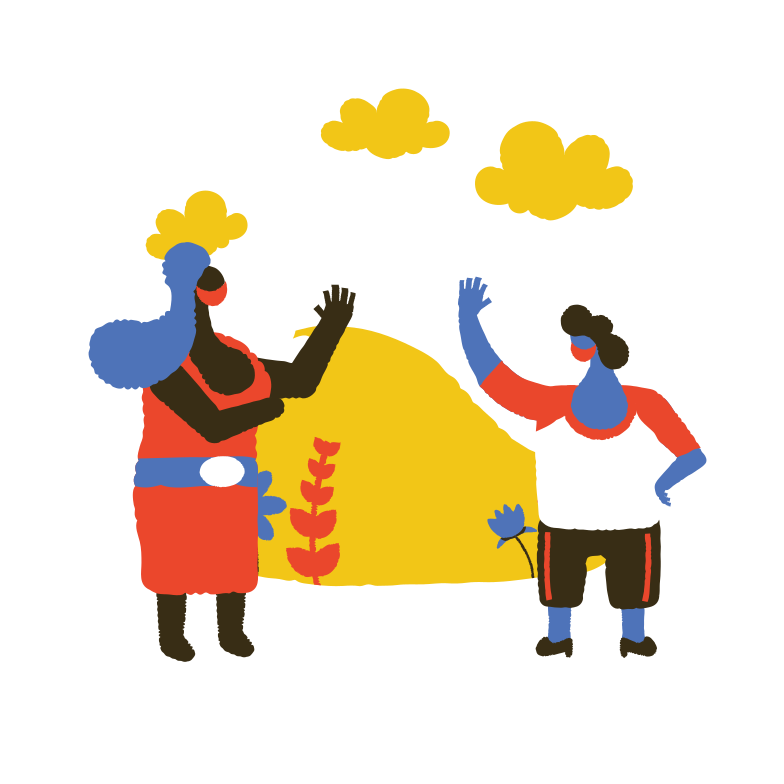 style Meeting friends during coronavirus Vector images in PNG and SVG | Icons8 Illustrations