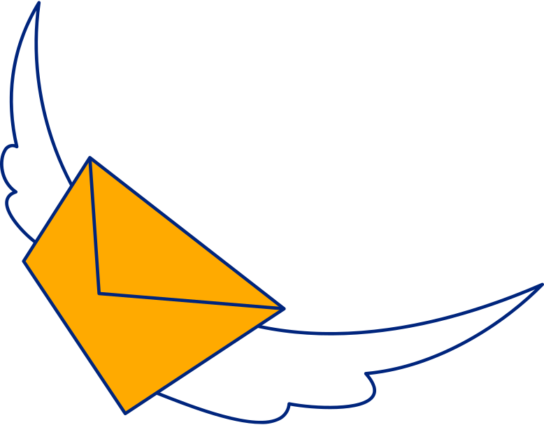 letter with wings Clipart illustration in PNG, SVG