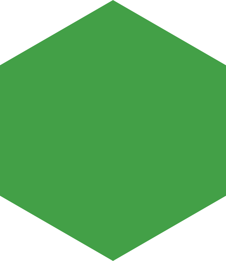 hexagon green Clipart illustration in PNG, SVG