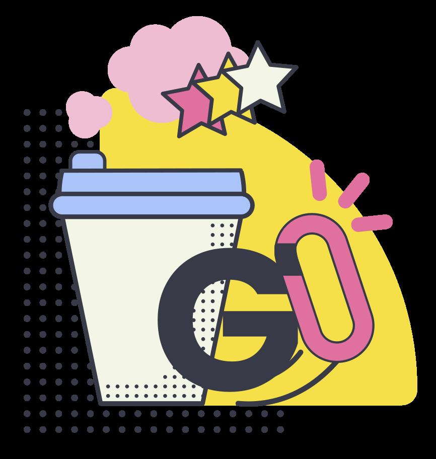 Ilustración de clipart de Café para llevar en PNG, SVG