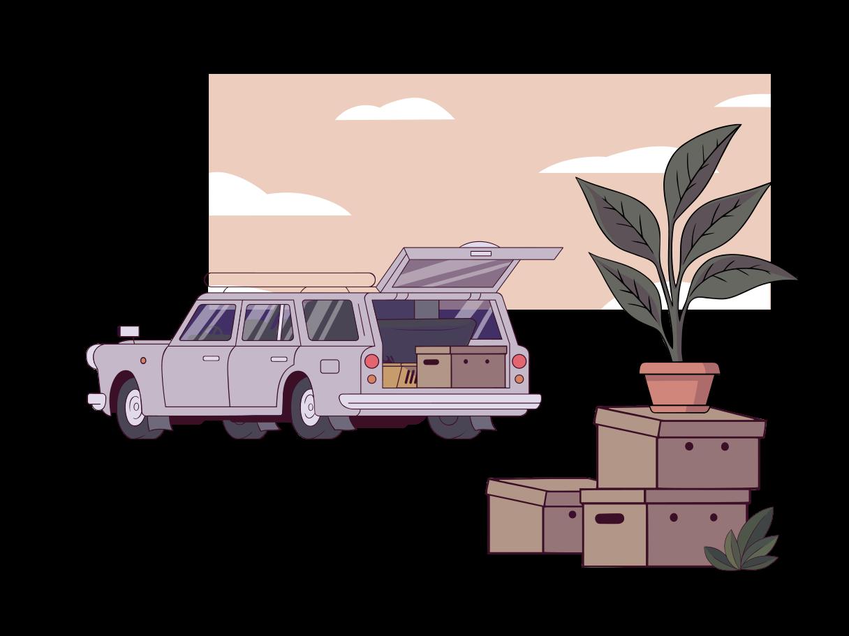 Mooving Clipart illustration in PNG, SVG