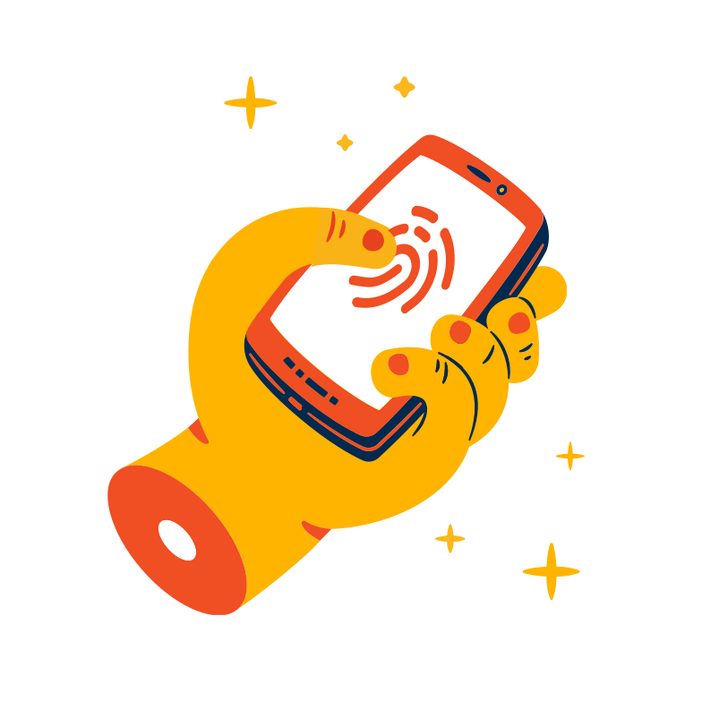 Fingerprint authentication Clipart illustration in PNG, SVG
