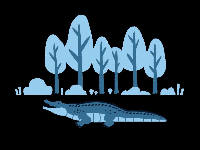 Krokodil Clipart-Grafik als PNG, SVG