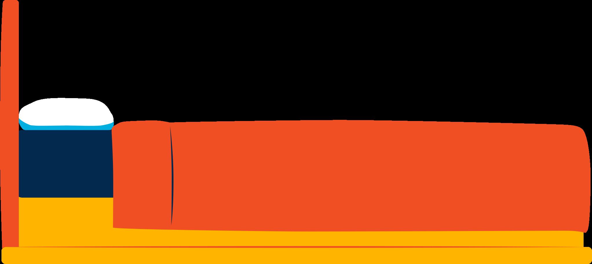 Ilustración de clipart de Cama en PNG, SVG