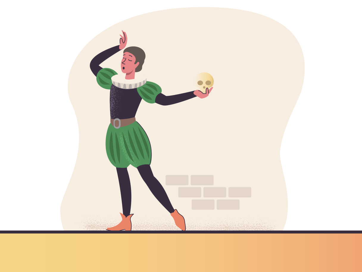 Actor performing on a stage Clipart illustration in PNG, SVG