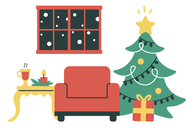 style Christmas interior Vector images in PNG and SVG | Icons8 Illustrations