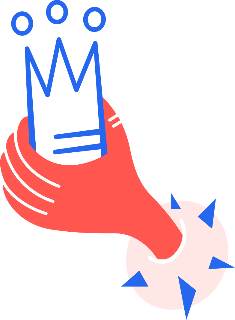 hand with crown Clipart illustration in PNG, SVG
