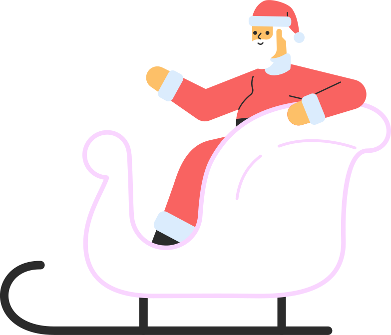style santa in sledge Vector images in PNG and SVG | Icons8 Illustrations
