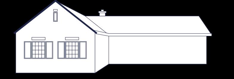 Villiage house line herunterladen Clipart-Grafik als PNG, SVG