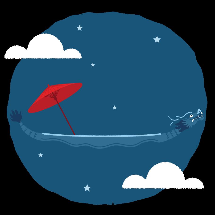 Velejar pelo céu Clipart illustration in PNG, SVG