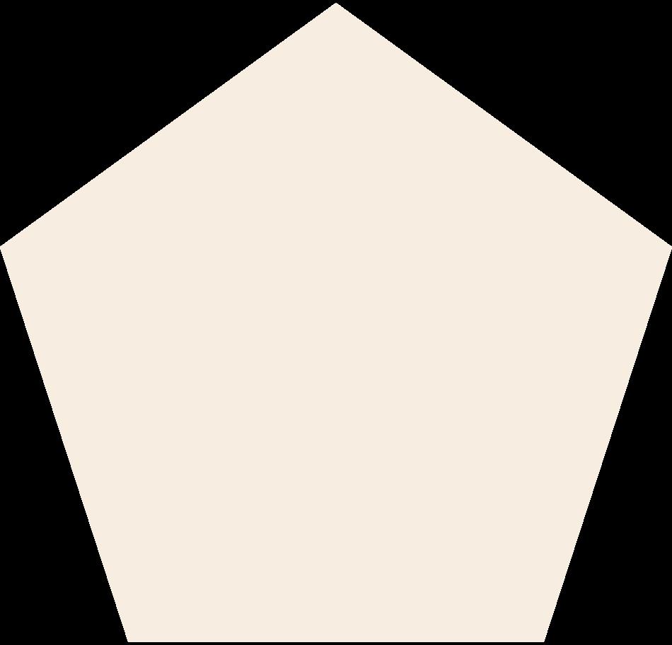 pentagon-beige Clipart illustration in PNG, SVG