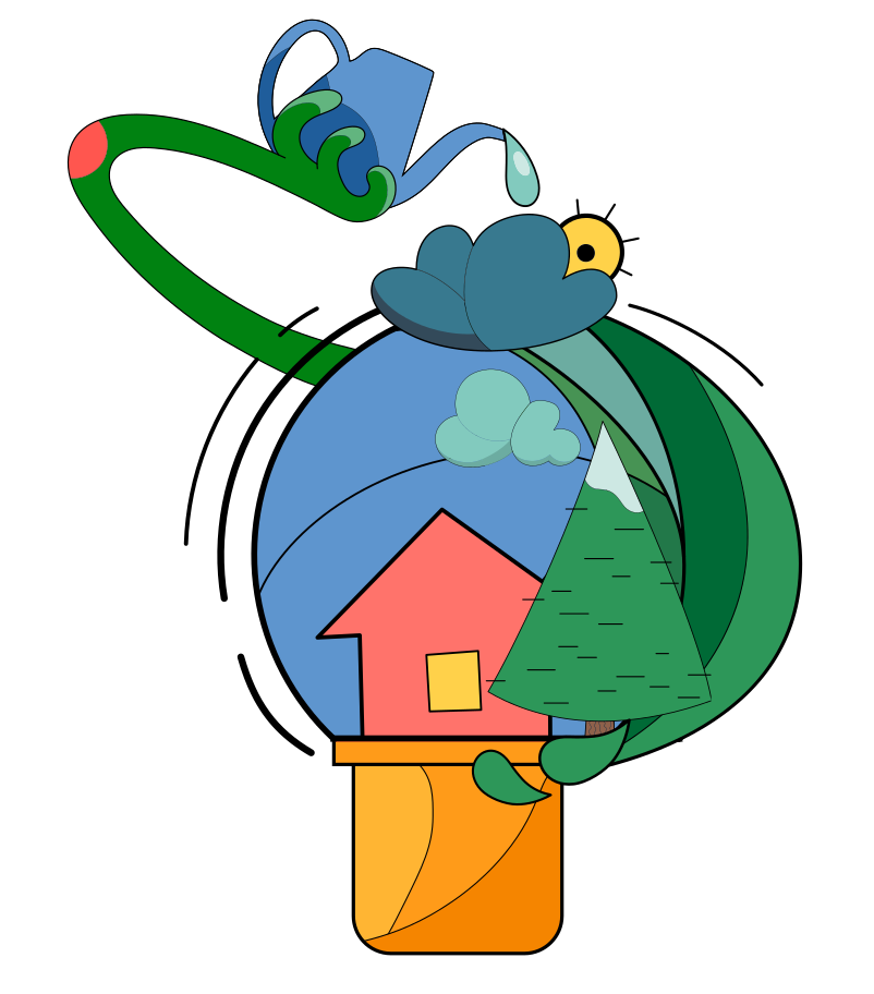 Green building Clipart illustration in PNG, SVG