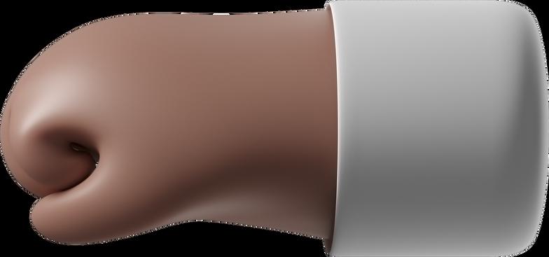left facing fist Clipart illustration in PNG, SVG