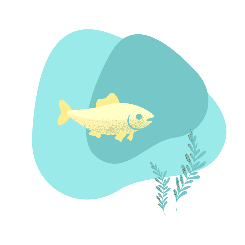Fish in water Clipart illustration in PNG, SVG
