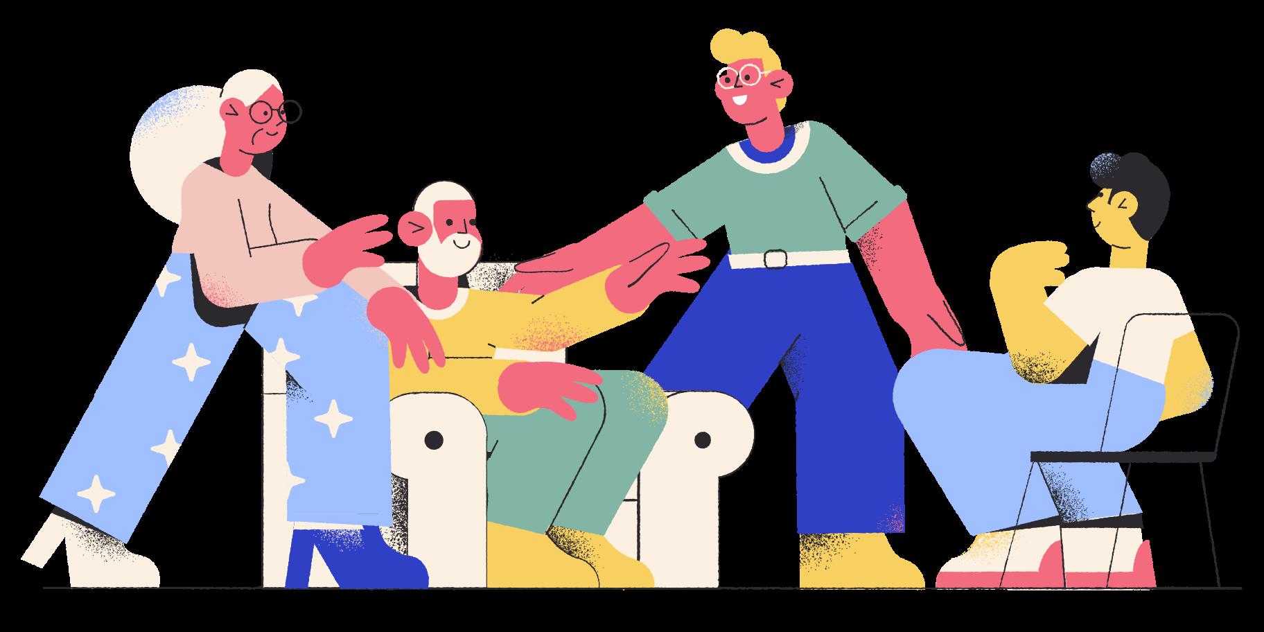 Visit parents Clipart illustration in PNG, SVG