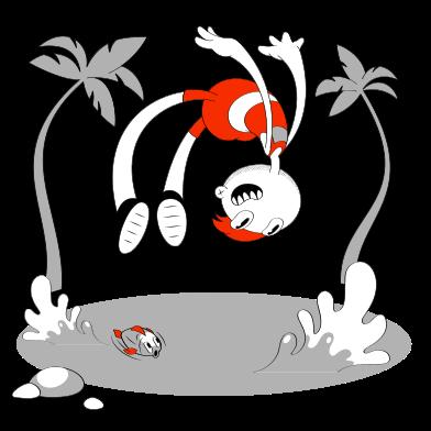 Иллюстрация Подводное плавание в стиле  в PNG и SVG | Icons8 Иллюстрации