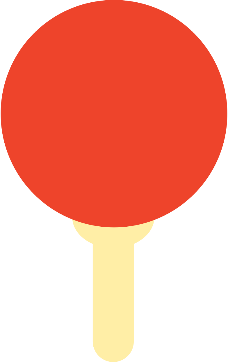 table tennis racket Clipart illustration in PNG, SVG