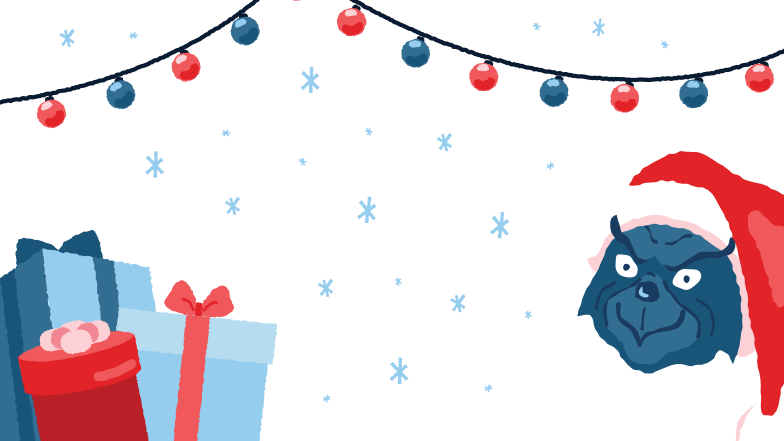 Grinch and the presents  Clipart illustration in PNG, SVG