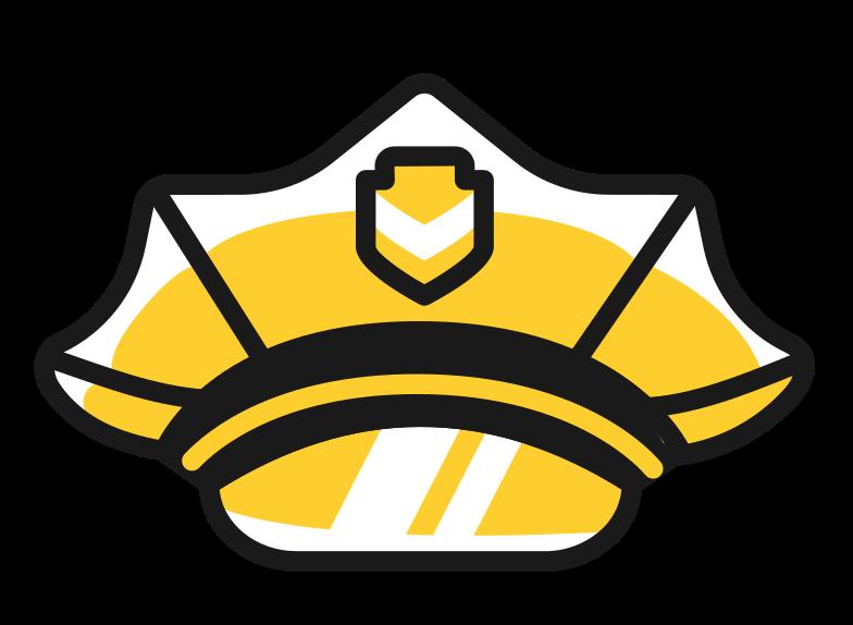 police hat Clipart illustration in PNG, SVG