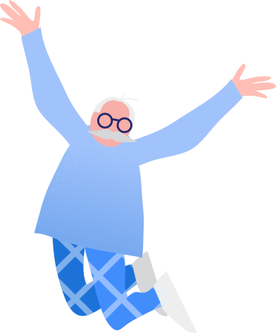 style grandpa jumping images in PNG and SVG | Icons8 Illustrations