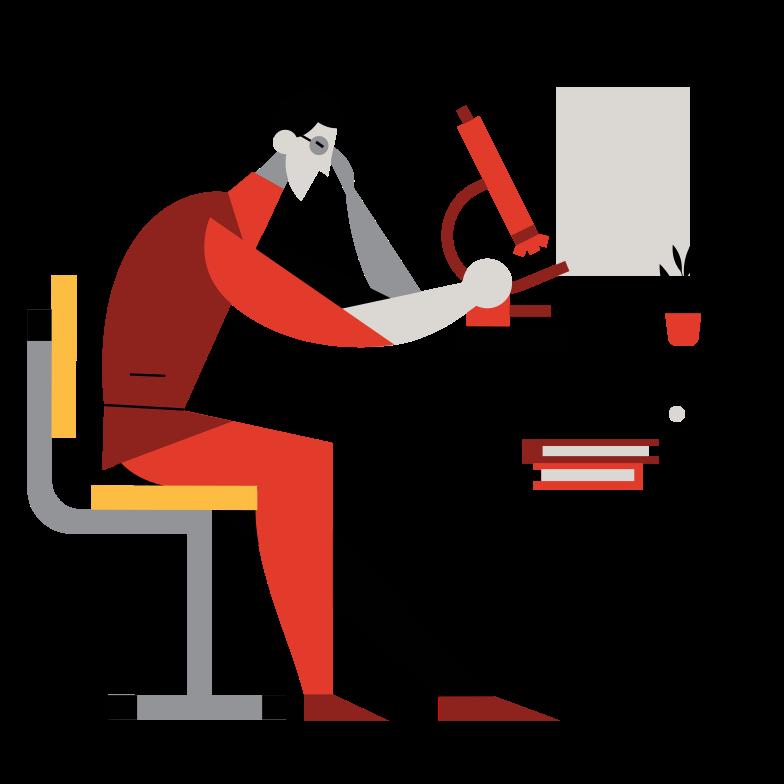 Biologist Clipart illustration in PNG, SVG