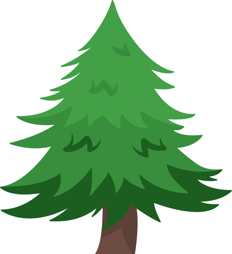 pine tree Clipart illustration in PNG, SVG