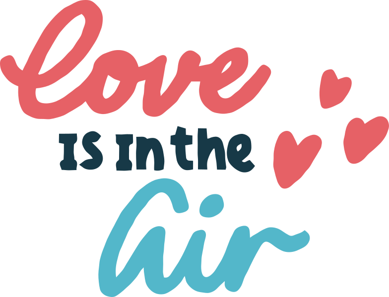 love is in-the air Clipart illustration in PNG, SVG