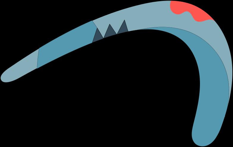 bad gateway  boomerang Clipart illustration in PNG, SVG