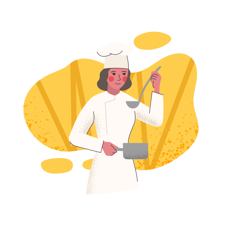 A cook Clipart illustration in PNG, SVG
