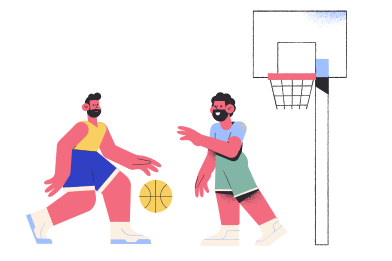 style Playing basketball images in PNG and SVG | Icons8 Illustrations