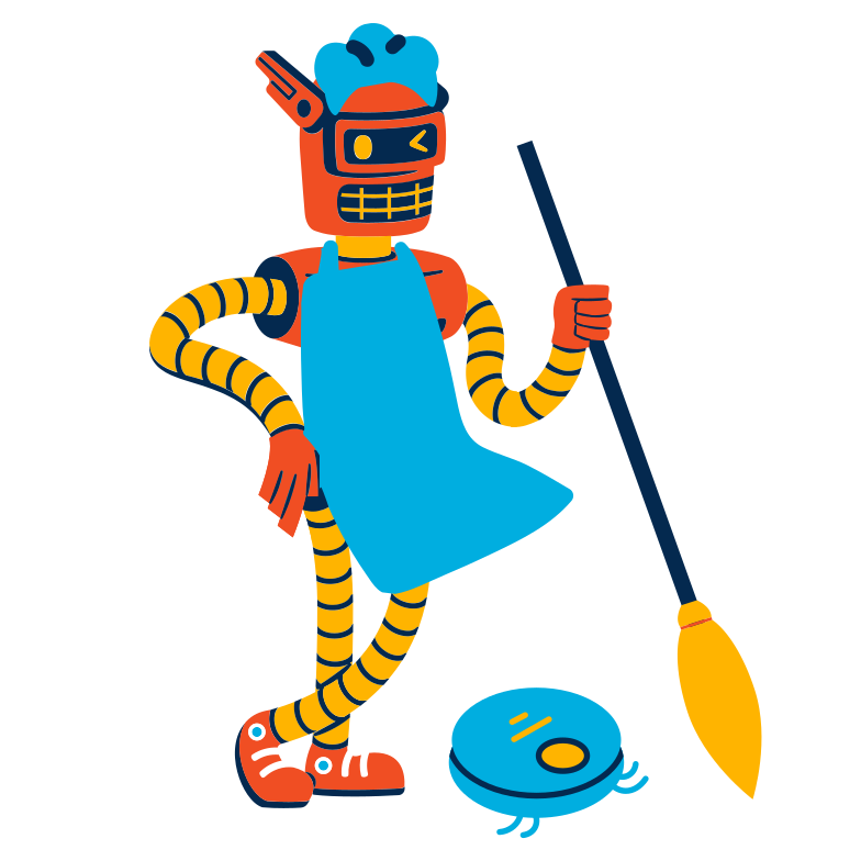 Cleaning robot Clipart illustration in PNG, SVG